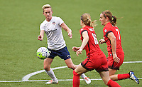 Portland, Oregon - Saturday May 21, 2016: Washington Spirit's Shelina Zardorsky (6) during a regular season NWSL match at Providence Park.