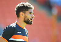 Blackpool's Kelvin Mellor during the pre-match warm-up <br /> <br /> Photographer Kevin Barnes/CameraSport<br /> <br /> Football - The EFL Sky Bet League Two - Blackpool v Exeter City - Saturday 6th August 2016 - Bloomfield Road - Blackpool<br /> <br /> World Copyright &copy; 2016 CameraSport. All rights reserved. 43 Linden Ave. Countesthorpe. Leicester. England. LE8 5PG - Tel: +44 (0) 116 277 4147 - admin@camerasport.com - www.camerasport.com
