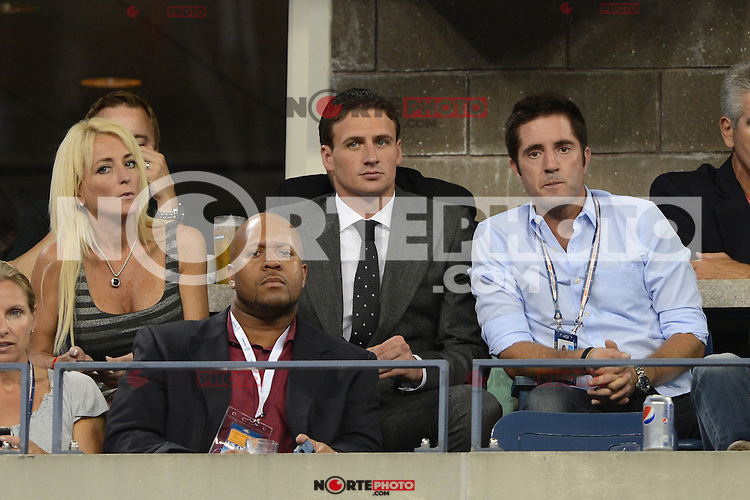FLUSHING NY- SEPTEMBER 5: Ryan Lochte is sighted watching the Serena Williams Vs Ana Ivanovic match on Arthur Ashe stadium at the USTA Billie Jean King National Tennis Center on September 5, 2012 in in Flushing Queens. Credit: mpi04/MediaPunch Inc. ***NO NY NEWSPAPERS*** /NortePhoto.com<br /> <br /> **CREDITO*OBLIGATORIO** *No*Venta*A*Terceros*<br /> *No*Sale*So*third* ***No*Se*Permite*Hacer...<br /> more »