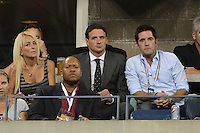 FLUSHING NY- SEPTEMBER 5: Ryan Lochte is sighted watching the Serena Williams Vs Ana Ivanovic match on Arthur Ashe stadium at the USTA Billie Jean King National Tennis Center on September 5, 2012 in in Flushing Queens. Credit: mpi04/MediaPunch Inc. ***NO NY NEWSPAPERS*** /NortePhoto.com<br />