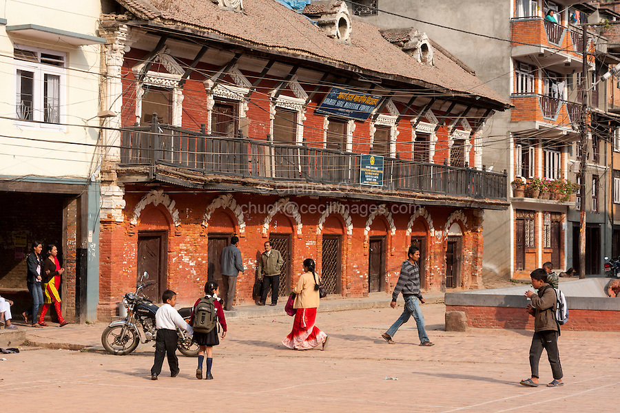 Nepal, Patan.  Old Granery, now a School for English-language Studies.