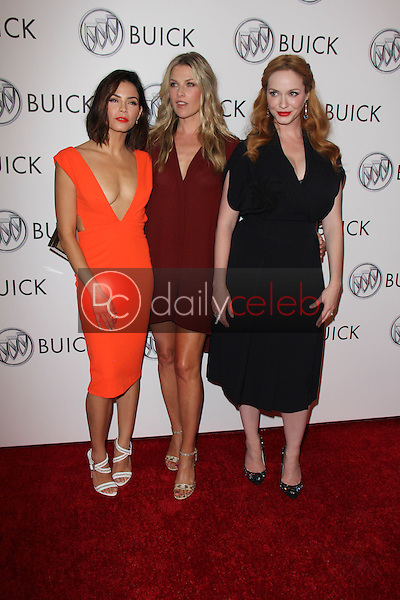 Jenna Dewan Tatum, Ali Larter, Christina Hendricks<br /> at the 24 Hour Buick Happiness Test Drive Collaborators Event, Ace Museum, Los Angeles, CA 07-22-15<br /> David Edwards/DailyCeleb.Com 818-249-4998