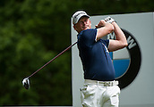 24.05.2015. Wentworth, England. BMW PGA Golf Championship. Final Round.  Jamie Donaldson [Wal] Tee shot on the 3rd hole during the final round of the 2015 BMW PGA Championship from The West Course Wentworth Golf Club