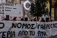 Teachers protesting in Athens