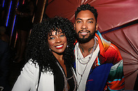 LOS ANGELES, CA - JUNE 26: Syleena Johnson and Miguel at the Mark Pitts & Bystorm Entertainment post 2016 BET Awards Celebration at Bootsy Bellows in Los Angeles, California on June 26, 2016. Credit: Walik Goshorn/MediaPunch
