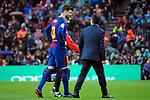 League Santander 2017/2018. Game: 28.<br /> FC Barcelona vs At. Madrid: 1-0.<br /> Gerard Pique.
