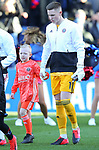Sheffield United's goalkeeper Dean Henderson with the Match day Mascot during the Premier League match at Selhurst Park, London. Picture date: 1st February 2020. Picture credit should read: Paul Terry/Sportimage