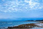 A winter sea in Barnstable Harbor, Cape Cod, Massachusetts, USA