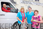 SERVICE: Announcing details of the bus service from local schools to Buddies Childcare in Ballyduff, l-r: Pat Flavin of Flavin's Buses, Karina Griffin, Caoimhe Healy, Kathleen Hussey and Ciara Houlihan.