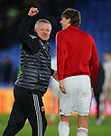 Chris Wilder manager of Sheffield Utd celebrates with Sander Berge of Sheffield Utd during the Premier League match at Selhurst Park, London. Picture date: 1st February 2020. Picture credit should read: Paul Terry/Sportimage
