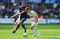 Daniel James of Swansea City in action during the Sky Bet Championship match between Swansea City and Rotherham United at the Liberty Stadium in Swansea, Wales, UK.  Friday 19 April 2019