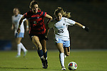 13 November 2015: North Carolina's Alexa Newfield (88) and Liberty's Jordan Kestel (9). The University of North Carolina Tar Heels hosted the Liberty University Flames at Fetzer Field in Chapel Hill, NC in a 2015 NCAA Division I Women's Soccer game. UNC won the game 3-0.