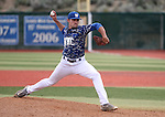 Western Nevada's Kyle Thompson pitches against College of Southern Nevada at Western Nevada College in Carson City, Nev. on Friday, May 6, 2016. <br />