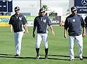 (L-R) Masahiro Tanaka, Ichiro Suzuki, Hiroki Kuroda (Yankees), MARCH 1, 2014 - MLB : MLB spring training baseball game between New York Yankees and Philadelphia Phillies in Tampa, Florida, United States. (Photo by AFLO)