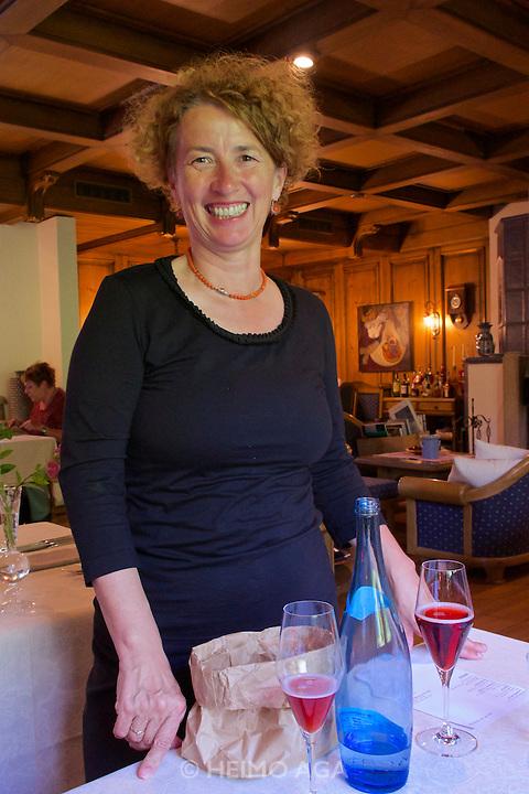 Neufelden, Austria. The gourmet restaurant at Genie&szlig;erhotel M&uuml;hltalhof.<br /> Johanna Eckl-Rachinger.