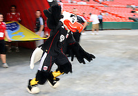 Talon, mascot of D.C. United aginst Portsmouth FC during an international friendly match at RFK Stadium on July 24 2010, in Washington D.C.United won 4-0.