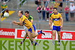 Shane Enright, Kerry in action against Martin O'Leary, Clare in the Munster Senior Championship Semi Final in Cusack Park, Ennis on Sunday.