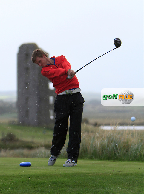 Stephen Coulter (Warrenpoint) on the 13th tee during the South of Ireland Amateur Open Championship Third Round at Lahinch Golf Club  29th July 2013 <br /> Picture:  Thos Caffrey / www.golffile.ie