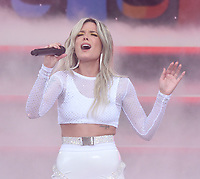NEW YORK, NY - June 1: Halsey performs on 'Good Morning America' at SummerStage at Rumsey Playfield, Central Park on June 1, 2018 in New York City. <br /> CAP/MPI/JP<br /> &copy;JP/MPI/Capital Pictures