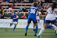 Seattle, WA - Saturday, July 02, 2016: Seattle Reign FC midfielder Kim Little (8) during a regular season National Women's Soccer League (NWSL) match between the Seattle Reign FC and the Boston Breakers at Memorial Stadium. Seattle won 2-0.