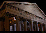 Pantheon exterior at night inscription Marcus Agrippa Hadrian Campus Martius Rome
