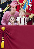 17 June 2017 - London, England - Princess Kate, Duchess Kate, Duchess of Cambridge and Prince George and Princess Charlotte. The ceremony of the Trooping the Colour, marking the monarch's official birthday, in London. Photo Credit: PPE/face to face/AdMedia