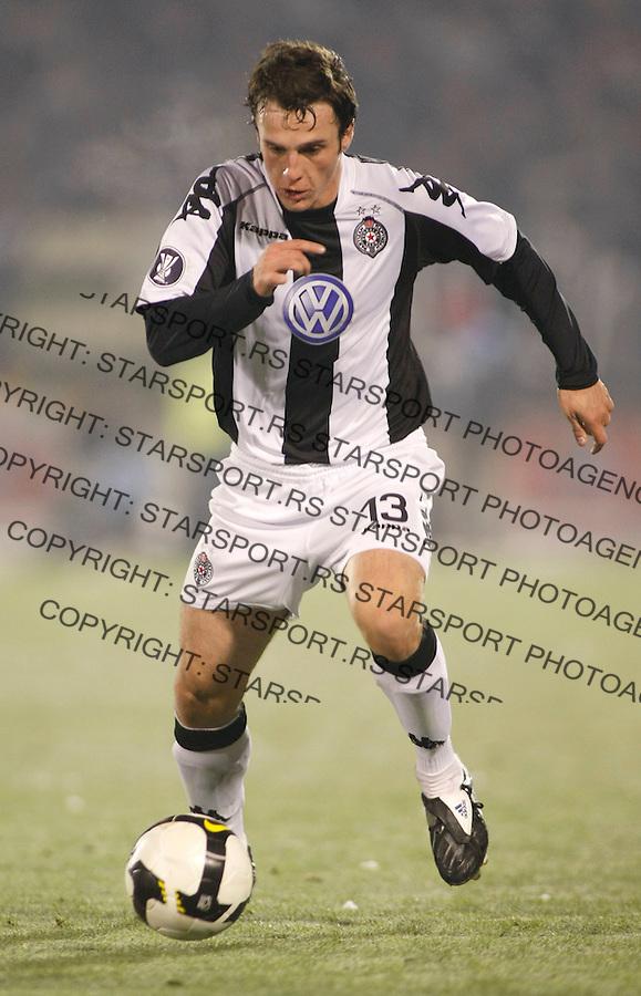 Fudbal, UEFA Cup, season 2007/08.Partizan Vs. Standard (Liege, Belgium).Marko Jovanovic.Beograd, 27.11.2008..foto: Srdjan Stevanovic ©