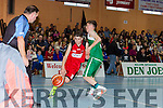 Shane Og McGaley St Mary's looks to score against Bobcats during the U14 Boys final at the St Marys Christmas basketball blitz in Castleisland on Friday
