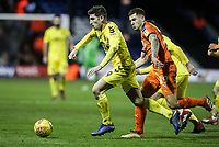 Fleetwood Town's Ched Evans competing with Luton Town's James Collins<br /> <br /> Photographer Andrew Kearns/CameraSport<br /> <br /> The EFL Sky Bet League One - Luton Town v Fleetwood Town - Saturday 8th December 2018 - Kenilworth Road - Luton<br /> <br /> World Copyright &copy; 2018 CameraSport. All rights reserved. 43 Linden Ave. Countesthorpe. Leicester. England. LE8 5PG - Tel: +44 (0) 116 277 4147 - admin@camerasport.com - www.camerasport.com