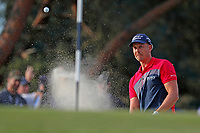 Henrik Stenson (SWE) hits out of a sand trap on the 17th hole during the third round of the 118th U.S. Open Championship at Shinnecock Hills Golf Club in Southampton, NY, USA. 16th June 2018.<br /> Picture: Golffile | Brian Spurlock<br /> <br /> <br /> All photo usage must carry mandatory copyright credit (&copy; Golffile | Brian Spurlock)