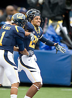 California's Marvin Jones and Keenan Allen are pictured during practice before the game against ASU at Memorial Stadium in Berkeley, California on October 23rd, 2010.  California defeated Arizona State, 50-17.
