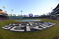 October 31, 2018: The sun rises over Fenway Park as media set up for the Boston Red Sox 2018 World Series championship celebration parade held in Boston, Mass.  Eric Canha/CSM