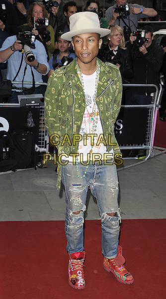 LONDON, ENGLAND - SEPTEMBER 02: Pharrell Williams attends the GQ Men of the Year Awards 2014, Royal Opera House, Covent Garden, on Tuesday September 02, 2014 in London, England, UK. <br /> CAP/CAN<br /> &copy;Can Nguyen/Capital Pictures