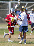 Corona Del Mar, CA 04/02/16 - Ryan Mechler (Corona Del Mar #13) and Noah Rubin (Torrey Pines #44) in action during the non-conference game between the Nike/LM High School Boys' National Western Region #4 Torrey Pines (#4) and #5 Corona Del Mar.  Torrey Pines defeated Corona Del Mar 9-8 in overtime.