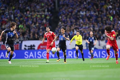 Shinji Kagawa (JPN), MARCH 29, 2016 - Football / Soccer : FIFA World Cup Russia 2018 Asian Qualifier Second Round Group E match between Japan 5-0 Syria at Saitama Stadium 2002 in Saitama, Japan. (Photo by Yohei Osada/AFLO SPORT)