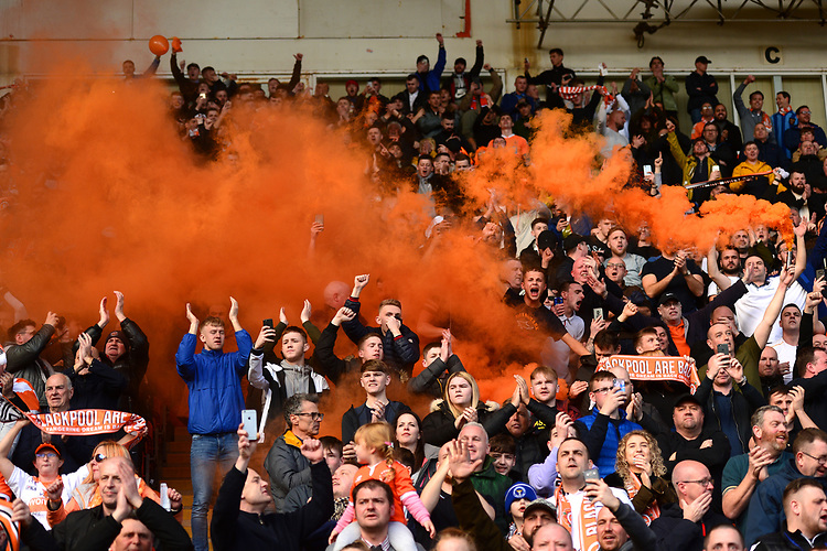 Blackpool fans<br /> <br /> Photographer Richard Martin-Roberts/CameraSport<br /> <br /> The EFL Sky Bet League One - Blackpool v Southend United - Saturday 9th March 2019 - Bloomfield Road - Blackpool<br /> <br /> World Copyright © 2019 CameraSport. All rights reserved. 43 Linden Ave. Countesthorpe. Leicester. England. LE8 5PG - Tel: +44 (0) 116 277 4147 - admin@camerasport.com - www.camerasport.com
