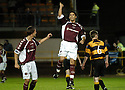 20/09/2006        Copyright Pic: James Stewart.File Name : sct_jspa13_alloa_v_hearts.BRUNO AGUIAR CELEBRATES THE FOURTH FOR HEATS......Payments to :.James Stewart Photo Agency 19 Carronlea Drive, Falkirk. FK2 8DN      Vat Reg No. 607 6932 25.Office     : +44 (0)1324 570906     .Mobile   : +44 (0)7721 416997.Fax         : +44 (0)1324 570906.E-mail  :  jim@jspa.co.uk.If you require further information then contact Jim Stewart on any of the numbers above.........
