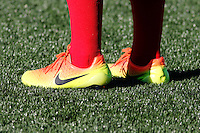 Rochester, NY - Friday June 17, 2016: Shoes prior to a regular season National Women's Soccer League (NWSL) match between the Western New York Flash and the Portland Thorns FC at Rochester Rhinos Stadium.