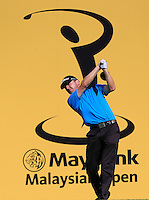 Michael Hoey (NIR) on the 12th tee during Round 3 of the Maybank Malaysian Open at the Kuala Lumpur Golf & Country Club on Saturday 7th February 2015.<br /> Picture:  Thos Caffrey / www.golffile.ie