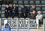 St Johnstone v Hearts...25.09.11   SPL Week 9.Neil Lennon and Garry Parker watch the match.Picture by Graeme Hart..Copyright Perthshire Picture Agency.Tel: 01738 623350  Mobile: 07990 594431