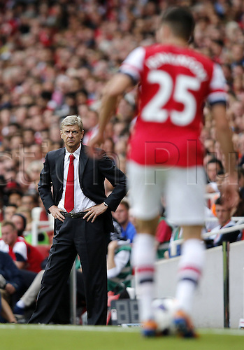 02.09.2013 London, England. Arsene Wenger during The Barclays Premier League Match between Arsenal and Tottenham Hotspur at the Emirates Stadium.