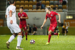 Jaimes Anthony Mckee of Hong Kong (R) in action during the International Friendly match between Hong Kong and Jordan at Mongkok Stadium on June 7, 2017 in Hong Kong, China. Photo by Cris Wong / Power Sport Images