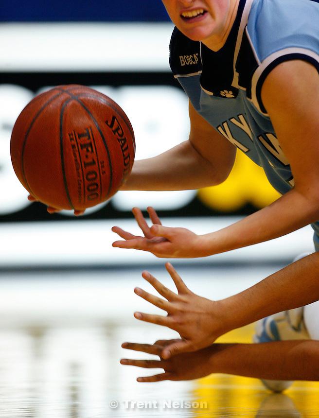 Sky View's Dani Egbert Taylorsville - Provo vs. Sky View High School, 4A Girls State Basketball Championships at Salt Lake Community College.