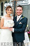 Yvonne Enright, daughter of Jerry and Breda, Moyvane South, Listowel, and Eoin Gilmore, son of Davy and Marie, Magherafelt, Co. Derry, who were married on Saturday in the Church of the Assumption, Moyvane. Fr Tom McMahon officiated at the ceremony, assisted by Fr Kevin McNamara. Best man was Emmet Mulholland and groomsmen were Enda McGowan and Quentin Gilmore. Bridesmaids were Niamh Walsh, with Ann-Marie O'Connor and Sarah Gilmore. Flowergirl was Dawn Horan. Pageboy was LJ Horan. The reception was held in the Dunraven Arms Hotel, Adare and the couple will reside in Limerick.
