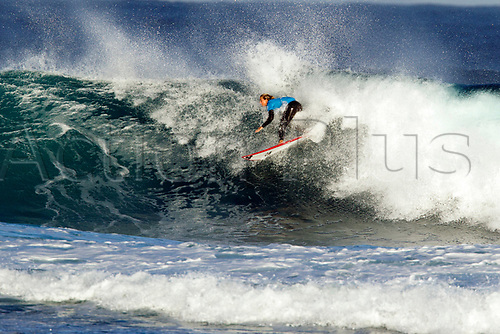 April 2nd 2017, Margaret River,  Perth, Western Australia;   The Drug Aware Margaret River Pro Surfing Competition; Sage Erickson (USA) takes a wave during Heat 1 on day 5 against CoCo Ho from (HAW); Erickson won the heat