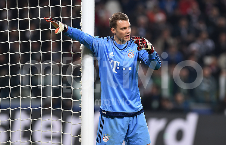 FUSSBALL CHAMPIONS LEAGUE  SAISON 2015/2016 ACHTELFINAL HINSPIEL Juventus Turin - FC Bayern Muenchen             23.02.2016 Torwart Manuel Neuer (FC Bayern Muenchen)
