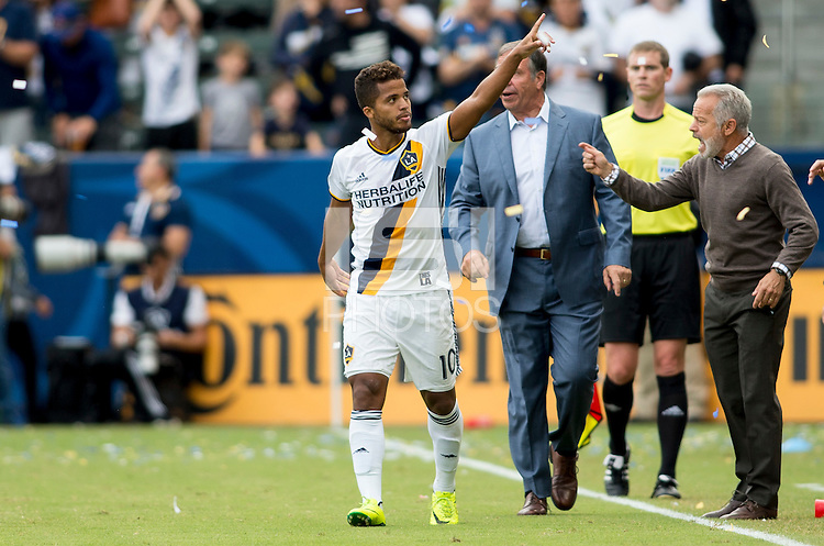 Carson, CA - October 30, 2016: The Los Angeles Galaxy defeat the Colorado Rapids 1-0 from a goal by Giovani dos Santos in the first game of the Western Conference Semifinals at StubHub Center.