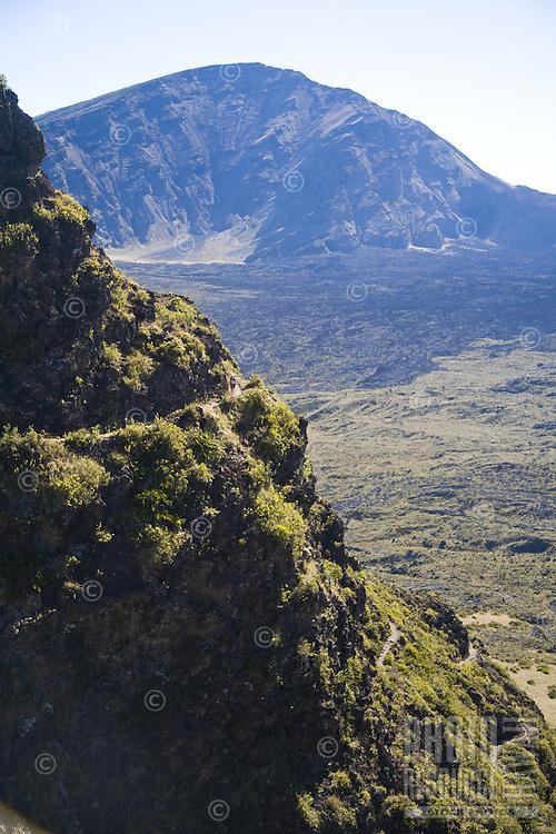 Hiking trail on windward side of Haleakala National Park