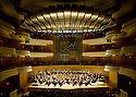 The Pacific Symphony performing at the Rene and Henry Segerstrom Concert Hall in Costa Mesa, CA.