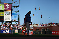SAN FRANCISCO - JULY 3:  Manager Lou Piniella of the Chicago Cubs walks off the field during the game against the San Francisco Giants at AT&T Park in San Francisco, California on July 3, 2008.  The Giants defeated the Cubs 8-3.  Photo by Brad Mangin